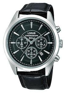 【送料無料】腕時計 クロノグラフレザーストラップウォッチlorus gents chronograph leather strap watch rt349bx9 lnp