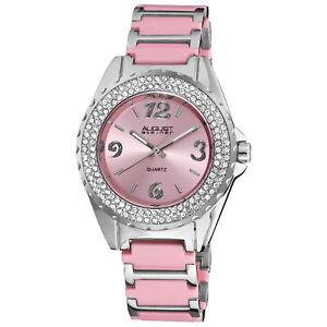 【送料無料】腕時計 #シュタイナークォーツムーブメントクリスタルベゼルブレスレットwomen039;s august steiner as8036pk quartz movement crystal bezel bracelet watch
