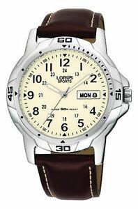 【送料無料】腕時計 ベルトlorus gents leather strap watch rxn49bx9 rrp 4499 our 3599