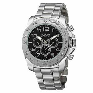 【送料無料】腕時計 シュタイナータイムゾーンスチールブレスレットmens august steiner as8095ssb quartz two time zone date steel bracelet watch