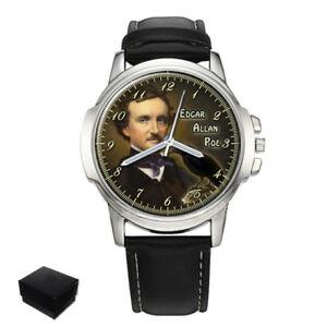 【送料無料】腕時計 アメリカエドガーアランポーメンズedgar allan poe american writer mens wrist watch gift engraving