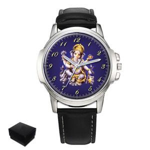 【送料無料】腕時計 ロードオブザガネーシャヒンドゥーメンズlord ganesha chaturthi hindu mens wrist watch gift engraving