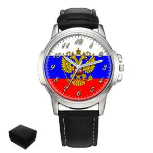 【送料無料】腕時計 ロシアロシアメンズボックスrussia russian flag gents mens wrist watch gift box engraving