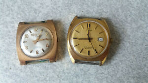 【送料無料】腕時計 ビンテージゴールドシグロプリマ2 x vintage gold plated watches timex amp; siglo xx prima not working