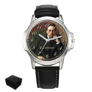 【送料無料】腕時計 ロシアアントンチェーホフanton chekhov russian writer large wrist watch gift engraving
