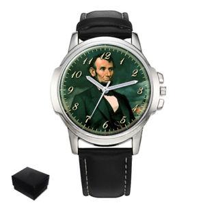 【送料無料】腕時計 エイブラハムリンカーンメンズpresident abraham lincoln gents mens wrist watch gift engraving