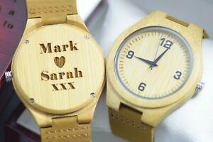 【送料無料】腕時計 パーソナライズボックスレザーbold watch mens womens engraved wooden personalised wood box leather gift quartz