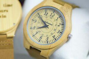 送料無料 腕時計 ウォッチクオーツメンズパーソナライズボックスdarknight wood watch quartz mens engraved wooden personalised box leather giftIvgyYbf76