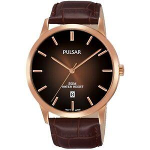 【送料無料】腕時計 パルサーレザーストラップウォッチ××pulsar gents leather strap watch ps9534x1xpnp