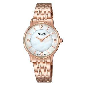 【送料無料】腕時計 パルサーレディースローズゴールドメッキpulsar ladies rose gold plated watch  prw028x1pnp