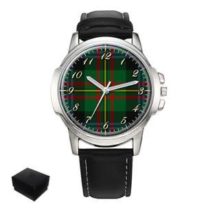 【送料無料】腕時計 スコットランドタータンチェックメンズmaclaren scottish clan tartan gents mens wrist watch gift engraving