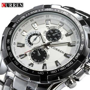 【送料無料】腕時計 フルスチールクオーツビジネスカジュアルウォッチbrand luxury full steel watch men business casual quartz military gifts for him