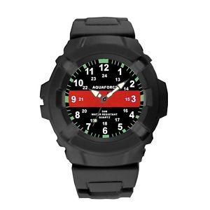 【送料無料】腕時計 アクアフォースシンレッドラインaquaforce thin red line watch water resistant firefighter rothco 4391