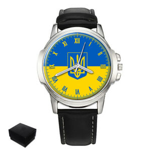 【送料無料】腕時計 ウクライナウクライナメンズukraine ukrainian flag gents mens wrist watch gift engraving