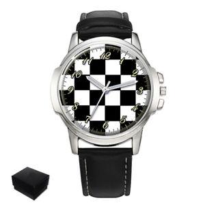 【送料無料】腕時計 チェッカーフラッグカーペットフロアメンズmasonic chequered carpet floor gents mens wrist watch gift engraving