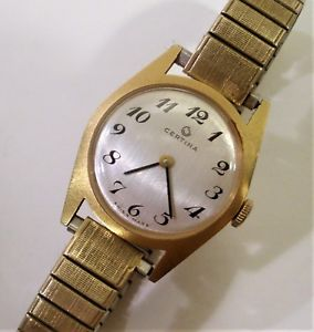 【送料無料】腕時計 ビンテージスイスハンドウインチvintage womens wristwatch certina swiss made 17j hand wind very clean