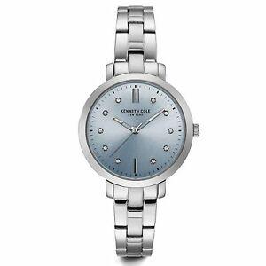 【送料無料】腕時計 ケネスシルバーストーンkenneth cole kc15173004 womens silver tone wristwatch