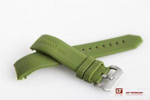【送料無料】腕時計 グリーンゴムストラップlumtec watches 22mm combat b green rubber strap ss