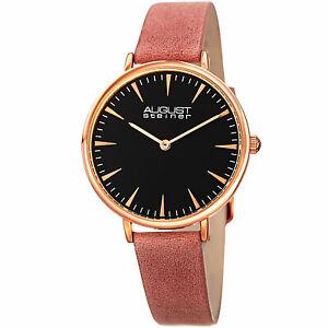 【送料無料】腕時計 シュタイナーハンドクォーツストラップウォッチwomens august steiner as8187pk two hand quartz genuine leather strap watch