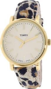 【送料無料】腕時計 チータースエードレザークオーツtimex womens heritage tw2p69800 cheetah suede printed leather quartz watch