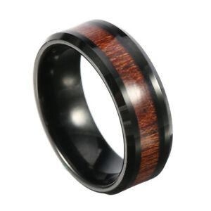 【送料無料】腕時計 メンズタングステンリングタングステンカーバイド8mm classic mens wood tungsten ring tungsten carbide colorfast anallergic engag