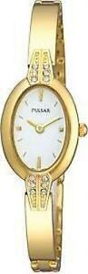 【送料無料】腕時計 パルサーレディースドレスカクテルゴールドカラースワロフスキー