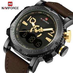 【送料無料】腕時計 メンズクオーツアナログデジタルクリスマスluxury naviforce military watches mens quartz analog digital xmas gifts for him