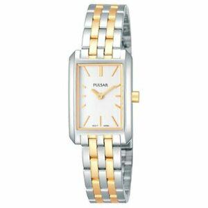 【送料無料】腕時計 レディースブランドパルサートーンブレスレットトーンウォッチladies brand pulsar watch prw001x two tone with two tone bracelet