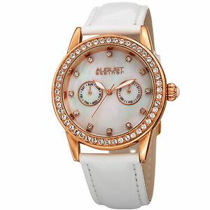 【送料無料】腕時計 シュタイナークォーツムーブメントストラップウォッチwomens august steiner as8234wt quartz movement date genuine leather strap watch