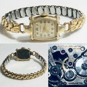 【送料無料】腕時計 アンティークアールデコウィットスイスマニュアルウォッチantique art deco wittnauer 5jh 17j swiss manual ladies wrist watch steampunk