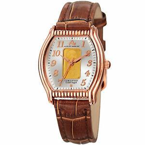 【送料無料】腕時計 シュタイナーストラップウォッチプレートwomens august steiner as8225rgbr certified 010g plate of pure gold strap watch