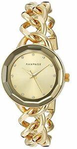 【送料無料】腕時計 ゴールドストーンクリスタルアクセントベゼルチェーンブレスレットウォッチ rampage gold tone,crystal accent,mirror bezel,chain bracelet watch rp1032gd