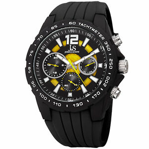 【送料無料】腕時計 メンズジョシュアシリコンストラップウォッチmens joshua amp; sons jx126bkyl 24 hour date complication silicone strap watch