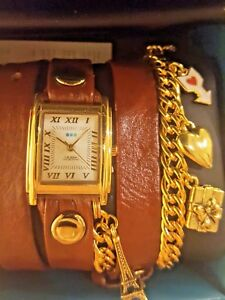 【送料無料】腕時計 ラコレクションパリチェーンラップウォッチ reduced la mer collections womens paris charms chain wrap watch