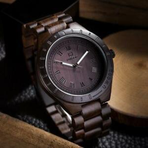 【送料無料】腕時計 ファッションメンズウォッチuwood natural solid wood wristwatch for men fashion mens wooden watch