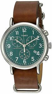 【送料無料】腕時計 メンズクロノグラフブラウンウィークエンダースリップストラップtimex tw2p97400 mens weekender chronograph watch brown leather slipthru strap