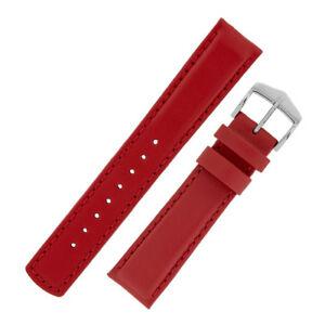 【送料無料】腕時計 ランナーパッドカーフレザーラバーウォッチストラップhirsch runner waterresistant padded calf leather amp; rubber watch strap in red