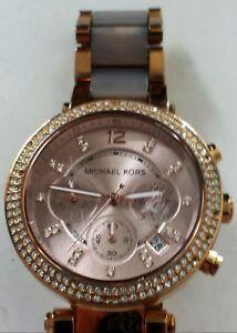 【送料無料】腕時計 ミハエルパーカーローズゴールドクリスタルベゼルmichael kors parker rose gold blush quartz watch mk5896 w crystal bezel