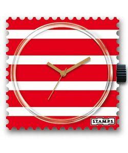 【送料無料】腕時計 スタンプレッドホワイトウォッチヌオーヴォロッソquadrante orologio stamps red amp; white watch 103275 orologi nuovo strisce rosso