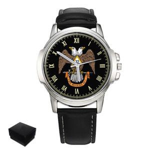 【送料無料】腕時計 スコットランドメンズscottish rite 32nd masonic gents mens wrist watch gift engraving