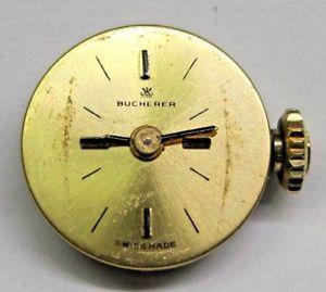 【送料無料】腕時計 ビンテージレディースムーブメント#vintage ladies bucherer watch movement 135 mm, 17 jewels 4442