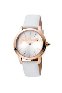 【送料無料】腕時計 キャバリロゴスチールレザーローズゴールドjust cavalli womens jc1l006l0045 logo rosegold ip steel leather wristwatch