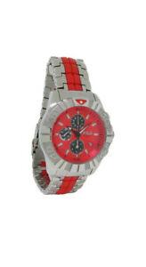 【送料無料】腕時計 マスターメンズレッドクロノグラフステンレススチールウォッチfila fa079443 mastertime mens red chronograph date stainless steel watch