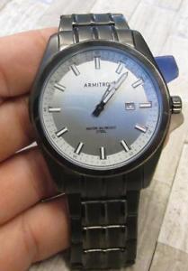 【送料無料】腕時計 メンズステンレススチールブラックイオントロンウィンドウ