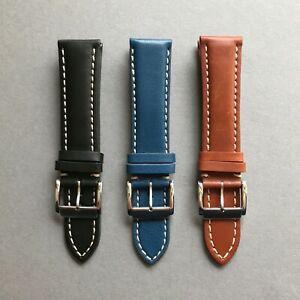 【送料無料】腕時計 ワイドイタリアンカーフレザーウォッチストラップイタリア20mm 22mm 24mm italian calf leather watch strap for breitling handmade in italy