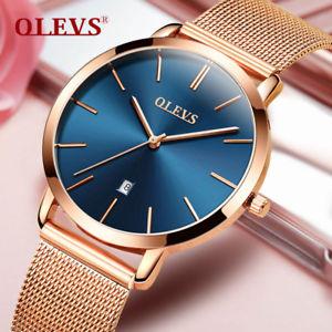 【送料無料】腕時計 ローズゴールドステンレススチールwoman watch  luxury women rose gold stainless steel watches auto date ultra