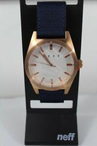 【送料無料】腕時計 ネフローズゴールドネイビーウォッチ neff nightly wrist watch navy rose gold