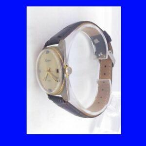 【送料無料】腕時計 ビンテージゴールドジュエルスイストラファルガーstunning vintage gold topped 17jewel swiss trafalgar date gents wrist watch 1975