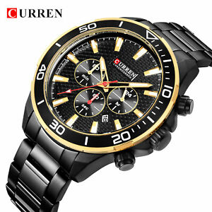【送料無料】腕時計 ラグジュアリースポーツビジネスクリスマスluxury curren mens business quartz wrist watch sport xmas gifts for him dad son