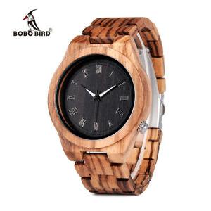 【送料無料】腕時計 ボボユニークメンズクリスマスbobo bird brand unique luxury mens wooden watches xmas gifts for him father son